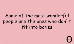 Fit into a box quote